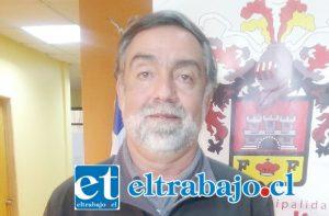 Danilo Peña, encargado del Departamento de Deportes de la Municipalidad de San Felipe.