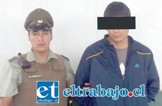 Carabineros capturó a los imputados en la vía pública en horas de la madrugada de este sábado.  Tras ser procesados en tribunales, ambos sujetos quedaron en prisión preventiva.