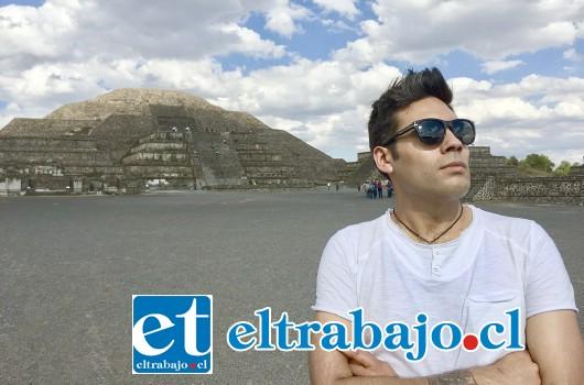 Rodrigo Ahumada durante su visita a México.