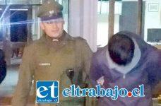 Elías Rojas Rojas alias 'El Piruja', quedará tras las rejas luego de ser formalizado por dos delitos flagrantes de robo con intimidación y hurto de perfumes en la comuna de Catemu.
