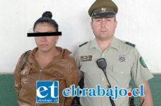La imputada apodada 'Fatmagul', tras ser detenida por Carabineros, fue procesada en tribunales quedando en prisión preventiva.
