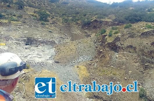 Sernageomin paralizó faena 'La Patricia' de Catemu luego de deslizamiento de terreno que afectó un área aproximada de 20 mil metros cuadrados.