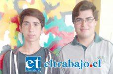 Francisco Arias (a la derecha) y Javier Valenzuela (a la izquierda), con sólo 16 años tendrán la posibilidad de estudiar 5 meses en uno de los países más desarrollados del mundo.