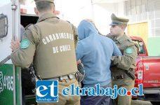 El imputado fue detenido por Carabineros siendo conducido hasta Tribunales por el delito de porte ilegal de arma de fuego y municiones quedando en prisión preventiva. (Foto Archivo).
