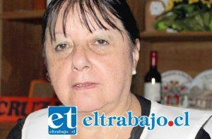 Presidenta de la filial de la Cruz Roja de San Felipe, María Gómez Ruiz.