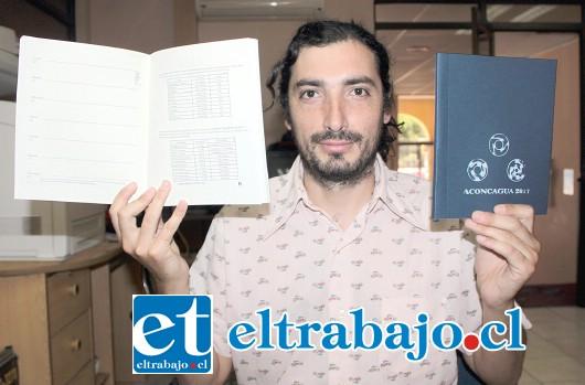 IDEA ORIGINAL.- Nelson Bañados, sanfelipeño que diseñó y creó la primera Agenda Aconcagua 2017.