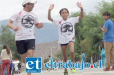 La pequeña fondista sanfelipeña resultó segunda en la serie juvenil de la maratón Costa del Pacifico.
