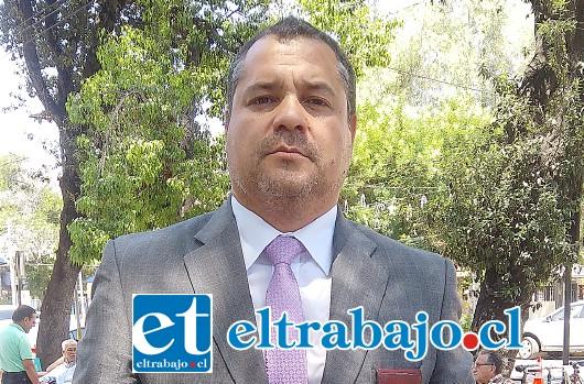 Comisario Andrés Carreño, jefe subrogante de la Bicrim San Felipe.