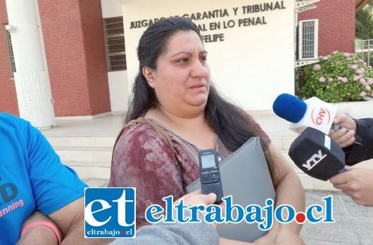 Victoria Martínez, madre del menor.