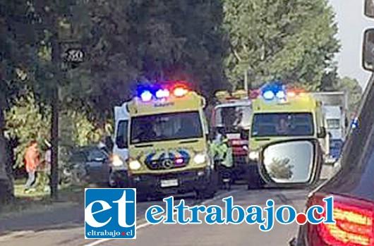 Los heridos fueron trasladados al Hospital San Camilo de San Felipe. (Foto Marco Ortega).