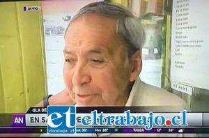 El conocido empresario Hugo Olguín, de Helados Olguín, recibió la visita de un equipo de Ahora Noticias de Mega para una nota informativa por las altas temperaturas registradas en la zona.