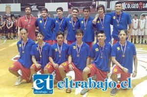 MUCHO FUTURO.- Pese a dar ventaja en edad, San Felipe quedó tercero en el Nacional federado U17.