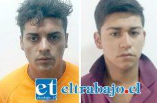 Germán Bustos Sepúlveda (23) y Byron Miranda Castro (18) provenientes de la comuna de Colina, quedaron en prisión preventiva por el delito de robo con violencia.