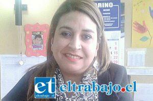 Directora provincial de Vialidad, Claudia Lizama.