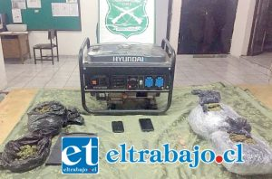 Las especies robadas fueron recuperadas por Carabineros de Llay Llay, además incautaron más de dos kilos de marihuana que trasportaban los antisociales.