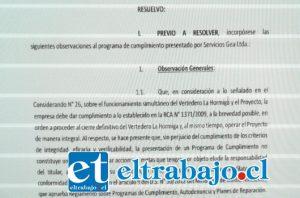 La resolución plantea a GEA cerrar vertedero La Hormiga.