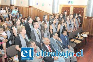 La actividad fue presidida por el decano de Humanidades y Ciencias Sociales, Marco Medina y contó con la presencia del consejero regional, Rolando Stevenson y del alcalde de San Felipe, Patricio Freire.