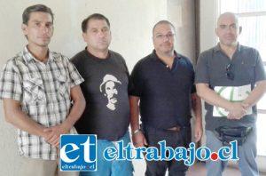 Estos son los guardias que denuncian a la empresa Security24, de izquierda a derecha, Víctor Aranda Montenegro, Luciano Murillo Cornejo, Alipio González Valdés y Luis Meza Maldonado.