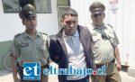 El imputado Roberto Díaz Villa, de 25 años de edad, fue detenido por Carabineros de la Subcomisaría de Llay Llay, tras ser formalizado quedó en prisión preventiva.