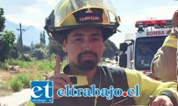 Maximiliano Carroza, bombero de la comuna de Llay Llay que fue despedido de su trabajo, luego de ir a combatir incendios al sur en cooperación con los otros cuerpos de bomberos.
