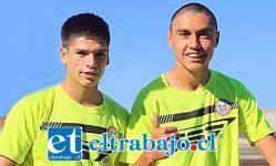 Los cadetes pertenecientes a las canteras de Unión San Felipe, Matías Silva (a la derecha) e Ignacio Mesías fueron convocados a la selección chilena sub-17.