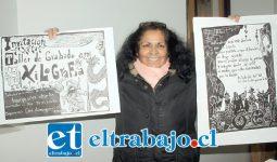 ASÍ QUEDAN FINALMENTE.- Olivia Ramírez del Ciem, muestra a Diario El Trabajo los grabados ya terminados.