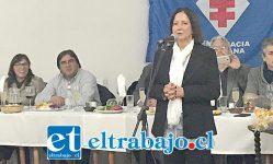 La ex presidenta nacional de la Democracia Cristiana y ex Ministra de Estado, Soledad Alvear, fue una de las principales oradoras en la oportunidad.