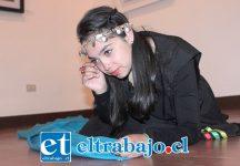 ACTRIZ SANFELIPEÑA.- Aquí tenemos a la actriz juvenil Jovanka Herrera, talentosa damita que interpretó a la Princesa Orolonco.