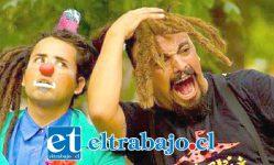 LLEGAN ESTE SÁBADO.- Los experimentados actores Francisco Carrasco y Cristian Rubio, interpretan al 'Payasito Caloid' y 'El Señor Corales'.