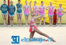 Un verdadero espectáculo fue el que brindaron las niñas en el encuentro de gimnasia rítmica y danza deportiva realizado en el gimnasio Samuel Tapia.