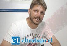 El jueves pasado Damián Ayude extendió su contrato por una temporada más con Unión San Felipe.