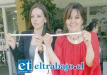 Camila Flores junto a la Concejal Patricia Boffa durante el lanzamiento de la campaña.