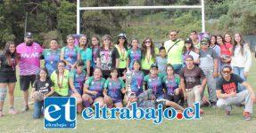 En un corto tiempo, Halcones Fem se ha convertido en uno de los mejores equipos del rugby femenino de la zona central del país.