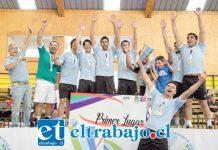 El equipo de Vóleibol Varones se titularon campeones.
