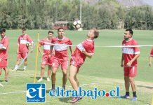 Ayer la escuadra albirroja realizó una práctica muy suave a la espera del partido de hoy frente a Magallanes.