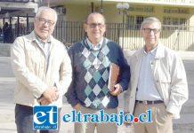 Los integrantes del Chile Vamos de San Felipe, de izquierda a derecha: Nibaldo Lagos (UDI Putaendo), Eduardo Vergara (UDI San Felipe) y René Stenger (RN).