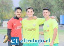 Los jugadores provenientes de las fincas del Uní Uní, Jaime Gómez, Boris Lagos y Paolo Jopia jugarán este 2018 por Trasandino.