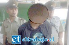 El adolescente próximo a cumplir su mayoría de edad, fue detenido por Carabineros en medio de un control de identidad en la comuna de Llay Llay. (Foto Archivo).