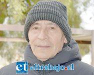 Miguel Cuevas, encargado de la estación meteorológica de la Escuela Agrícola de San Felipe.