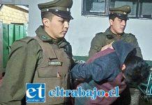 El imputado tras ser capturado por Carabineros fue formalizado por la Fiscalía por Robo en lugar habitado, quedando sujeto a la cautelar de prisión preventiva. (Foto Archivo).