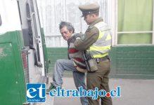 El imputado de 51 años de edad cuenta con amplio prontuario delictual, siendo detenido por Carabineros de la Tenencia de Santa María por robo en lugar habitado.