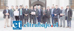 Alcaldes y representantes de las provincias de San Felipe y Los Andes viajaron hasta la Moneda para reunirse con el Subdere Felipe Salaberry.