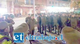 Los funcionarios de Carabineros Aconcagua se unieron al Plan Nacional preventivo de delitos.