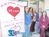 Este es el personal del Banco de Sangre del Hospital San Camilo.