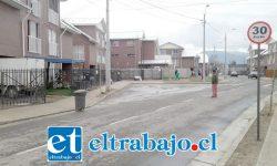 Entrada del Condomino Peumayén de San Felipe donde están los problemas denunciados ayer en Diario El Trabajo.