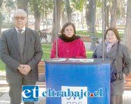De izquierda a derecha: Oscar Romo, Celedina Sánchez y Nora de Romo, Testigos de Jehová Congregación Sur de San Felipe.