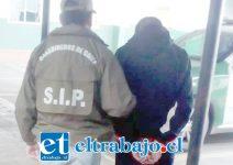 El imputado apodado 'El Care Queso' fue detenido por personal de la SIP de Carabineros de San Felipe la tarde de este miércoles.
