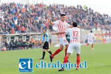 Brian Cortés entregó la única alegría local de la jornada al anotar el transitorio gol del empate ante el 'decano' del fútbol chileno. (Foto: Jaime Gómez)