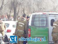 En la esquina de O´Higgins con Navarro fue interceptado por Carabineros el automóvil donde los delincuentes se disponían a escapar de la ciudad.