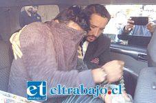 El imputado apodado 'El Melete' fue capturado por la Brianco de la Policía de Investigaciones de Los Andes.